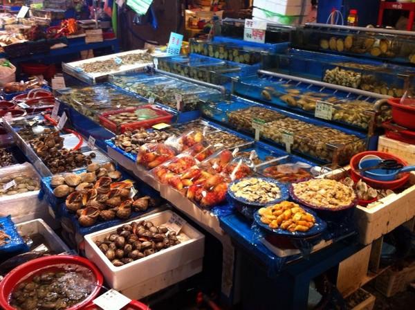 韩国最青平价海鲜 鹭梁津水产市场