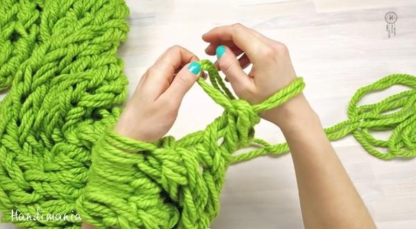 棒针掰掰! 只靠双手30分钟就能织出围巾
