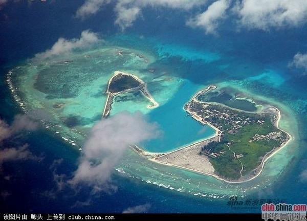 中国在南海岛礁建设的灯塔