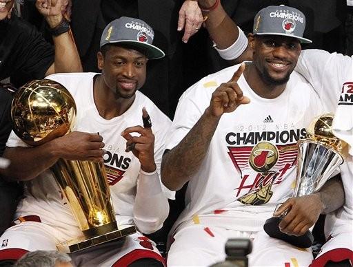 NBA 热火夺冠 美媒 最好的球员与最棒的球队图片