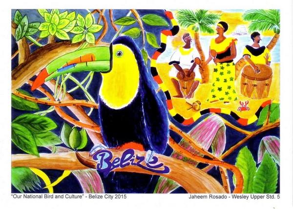 贝里斯小学生用画笔自筹助学经费 美术老师是台湾人