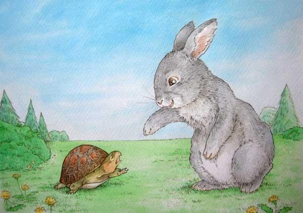 超写实可爱素描兔子