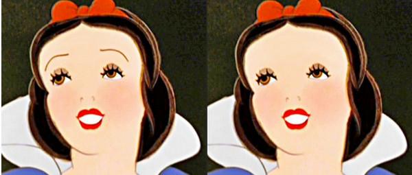 迪士尼公主没眉毛会怎样?白雪公主只是个面龟吧(笑)