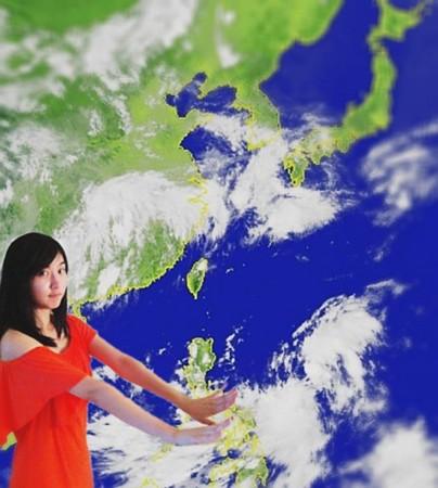 正妹主播李佳玲自封台风女神 用可爱求 杜苏芮 退散图片 51469 404x450