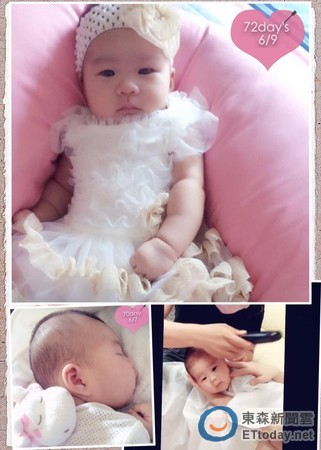 照片中,爱女沈妍熙的头型非常漂亮,脸蛋也十分q嫩,让许多之前一面倒