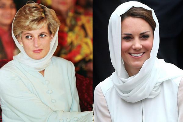 elle/凯特王妃酷似戴安娜的经典时尚造型