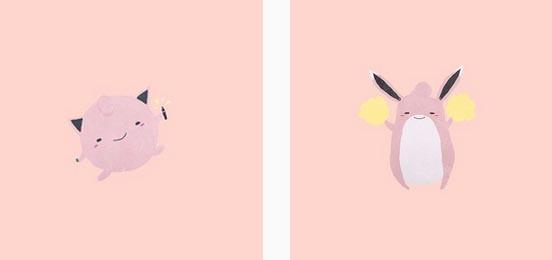 平时karolin插图风格就偏爱简约线条与清新女孩色调,於是「疗愈系神奇