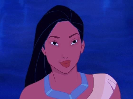 一系列的迪士尼公主素颜