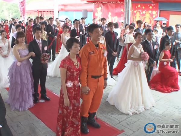 新竹市民聯合婚禮 41對新人互訂終身