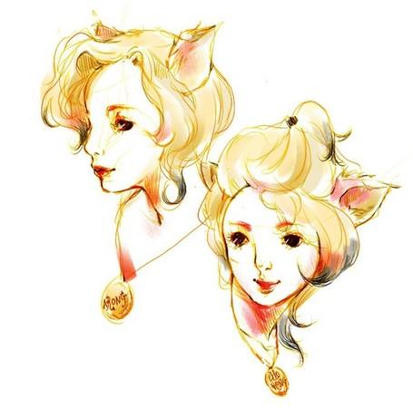 白猫变成傲娇美少年?韩国插画家巧手绘制拟人化宠物