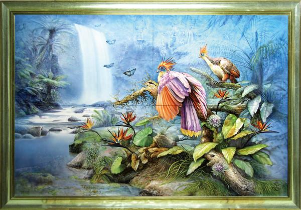 大自然保育艺术手绘瓷画 超写实惊艳!