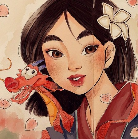 日式手绘萌妹头像