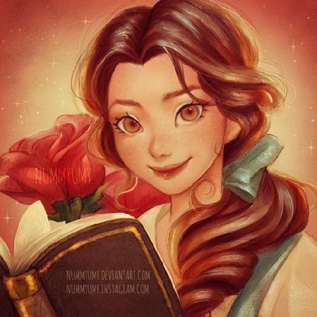 当日本漫画融入迪士尼公主 花木兰变成大眼萌妹了!