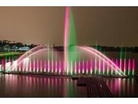 嘉義市蘭潭音樂噴泉(圖/嘉義市府提供)