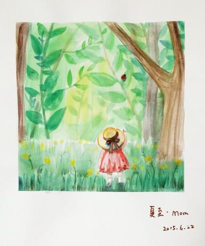 「24节气手绘图」记录女儿成长