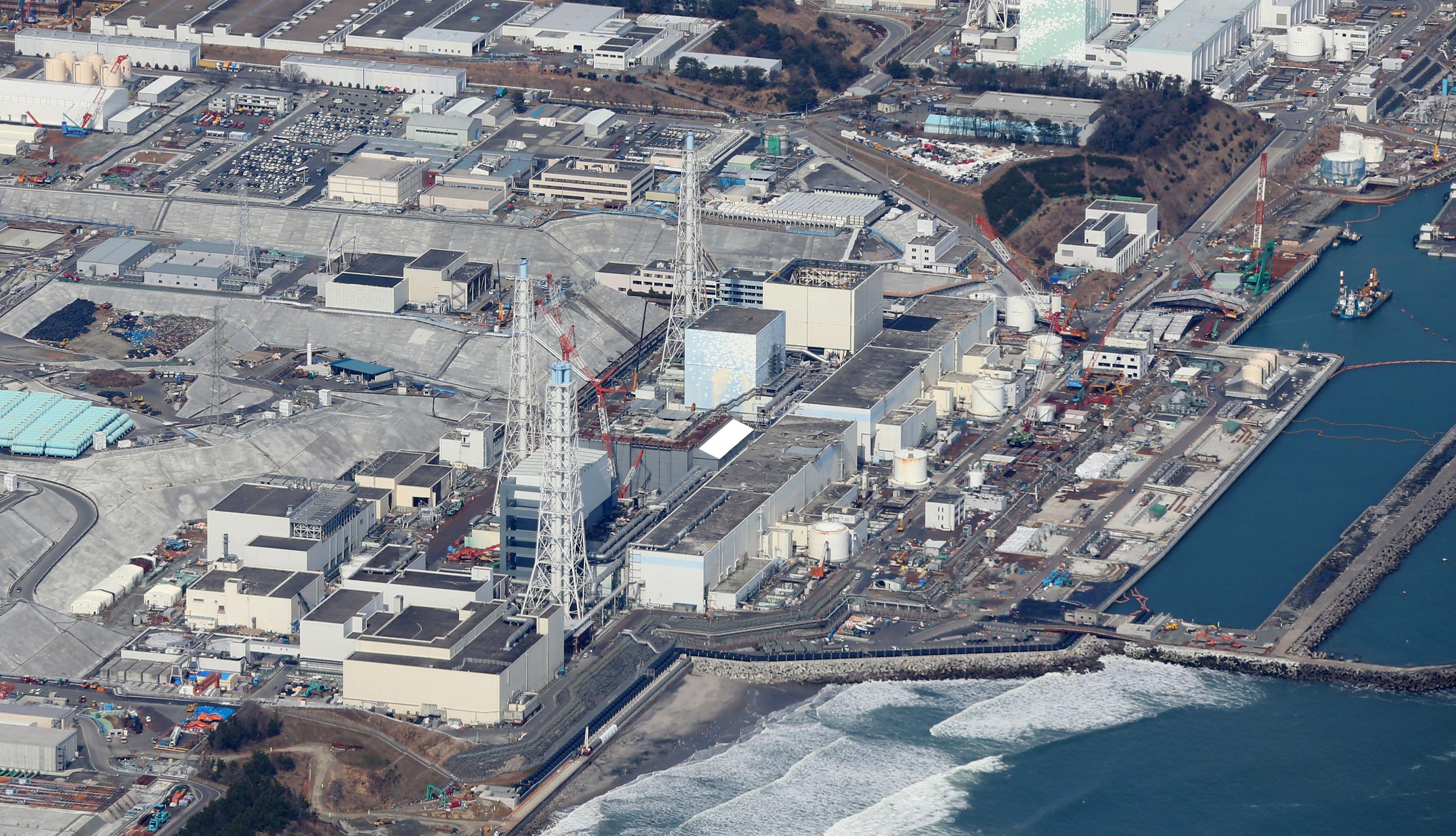 日本「311大地震」届满5周年.图为福岛核电厂今日面貌.