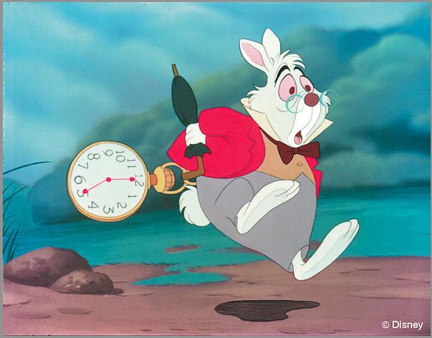 一直说著:「没时间了,没时间了」的兔子先生