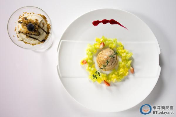 春季鮮花入菜 中菜粵亮餐廳花之饗宴像是吃西餐