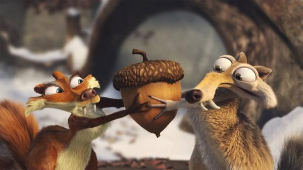 可爱松鼠与橡果简笔画