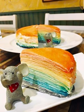 壯麗你的心情的寫照 讓人少女心大發的七彩千層蛋糕