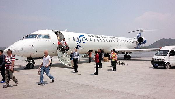 中国华夏航空的crj飞机.(图/翻摄自日本维基百科)