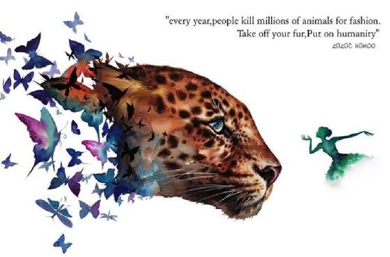 猫科动物也一直是他擅长绘画的主题,通常他会再加入人物,昆虫或是绚丽