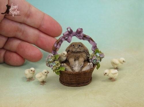 如果喜欢这款风格精致又拟真的黏土雕塑小动物,可以上她的网站逛一逛