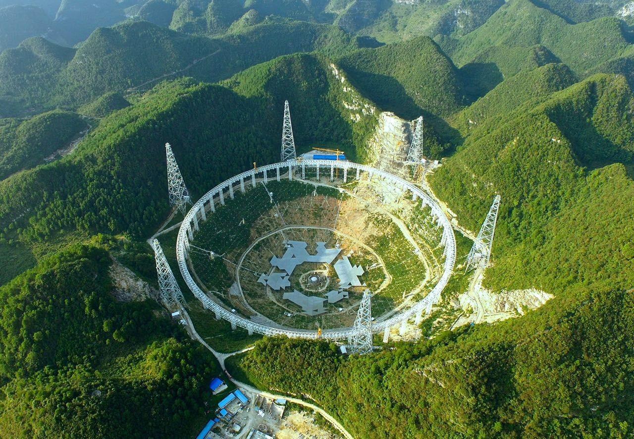 这个最大的单口望远镜「fast」可以称为贵州省的「天眼」,是由4,450