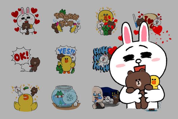 熊大,兔兔变迷你了!line卡通明星迷你篇贴图q萌登场