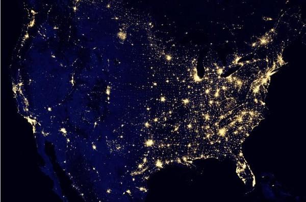 夜晚的地球好美! nasa公布卫星夜视图