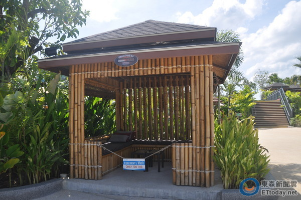用竹子装修饭店
