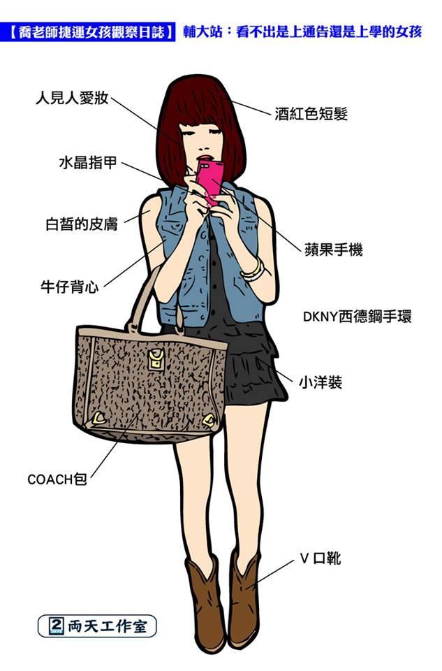 北捷女孩穿搭比拼!敦化妞最骚、红线「这站」日本蹲高中女生姿图片