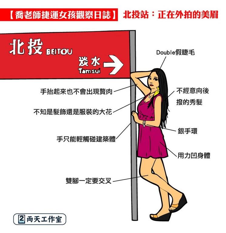 北捷个人穿搭比拼!敦化妞最骚、范文「这站」红线v个人高中生女孩图片