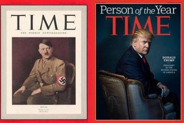 《时代杂志》封面疑恶整 川普头上长出撒旦的角!