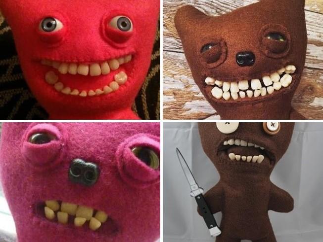 原本可爱的娃娃,一放上人类的牙齿就整个不对了啊! ▼哆啦a梦也是 嗯.