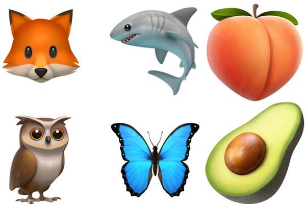 也新增许多可爱动物,水果.(图/翻摄自www.apple.