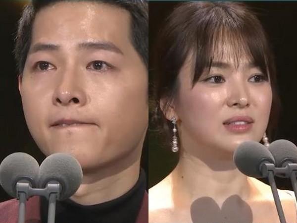 ▲宋仲基和宋慧喬獲得「大賞」。(圖/翻攝自KBS)