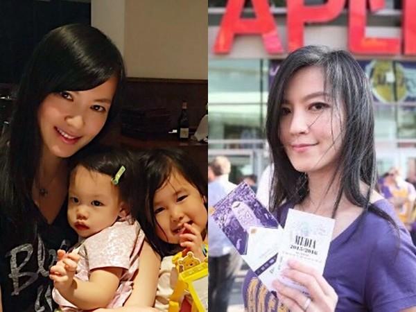 ▲林熙蕾婚後淡出演藝圈,專心照顧2個女兒。(圖/翻攝自林熙蕾微博)