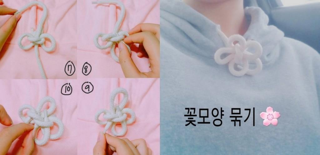 帽t的绳子竟能编成超萌小花 超简单步骤图解