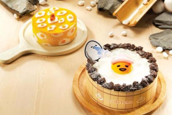 蛋黄哥慵懒「泡温泉」公仔蛋糕又来了