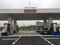 Costco在中壢店建立全台首加油站。(圖/記者徐政璿攝)