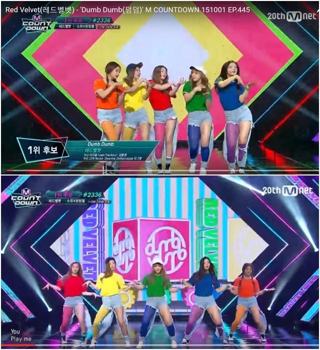 Red Velvets穿上打歌服也傻眼。(圖/翻攝自Youtube)