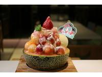 ▲冰菓藝棧滿滿的大草莓雪花冰。(圖/冰菓藝棧提供)