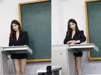 美女老師穿著套裝秀出美腿上課,網友們直呼:這要怎麼專心啦?(圖/翻攝自臉書和IG)