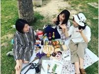 台中文心森林公園野餐。(圖/IG@yoko_s19)