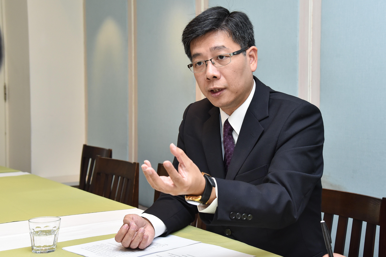 记者李�_味全sqf采访.食策会执行长陈健人(图/记者李毓康摄)