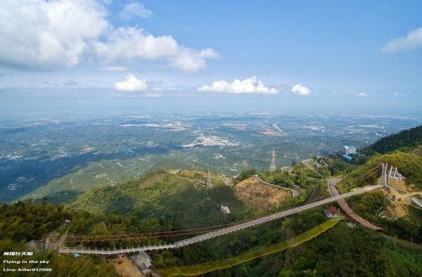 全台最長吊橋「太平雲梯」9月啟用 夜景曝光搶先看!