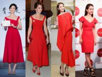 女星都愛紅洋裝(圖/品牌提供、翻攝自Preen by Thornton Bregazzi粉絲專頁、品牌提供、記者周宸亘攝)