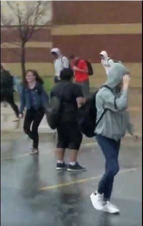 完美诠释「暴风雨中的宁静」 男学生雨中孤独背影爆红