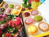 MAGMA熔岩起司塔專賣店的禮盒及口味。(圖/MAGMA熔岩起司塔專賣店提供)